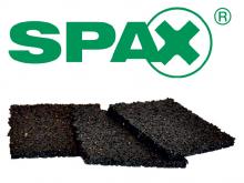 Spax - Podkładka gumowa 4x100x100