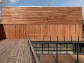 Elewacja drewniana - Meranti 20x145
