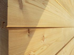 Elewacja drewniana - Modrzew Syberyjski 21x119-profil faza