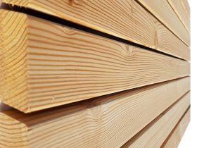 Elewacja drewniana - Modrzew Syberyjski 27x68- Żaluzja Rhombus