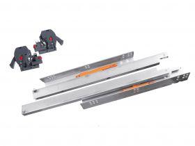 Prowadnica StrongRide 2D do szuflad drewnianych Pełny Wysuw L-400-550 mm push to open