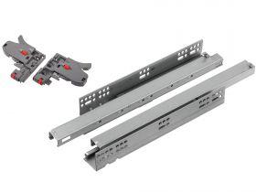 Prowadnica StrongRide synchro 3D do szuflad drewnianych Pełny Wysuw L-300-550 mm z hamulcem