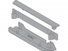 SERVO-DRIVE uchwyty profilu nośnego górny/dolny z pionowym trawersem z zaślepką do korpusu
