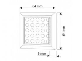 SQUARE XL oprawa LED 2W Aluminium